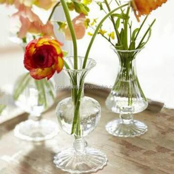High Long Stem Tall Clear Glass Wedding Centerpieces Tall Glass