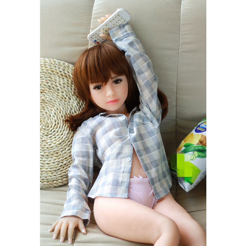 100cm A Cup Small Breast Real Young 18 Girl Feeling Silicone Sex Doll Men Love Doll