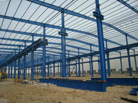multispan long span structural steel buildings, insulated steel structure frame