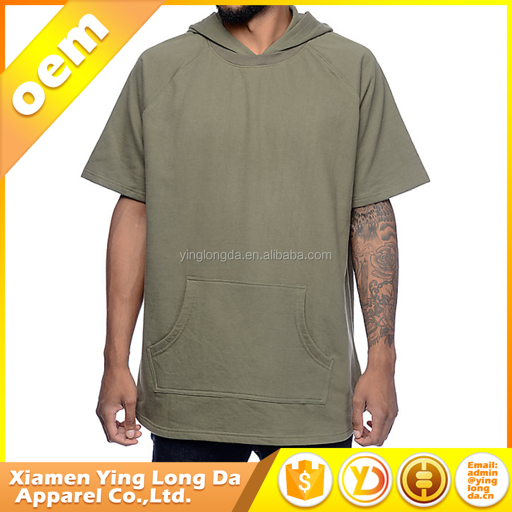fitted stylish mens short sleeve hoodies