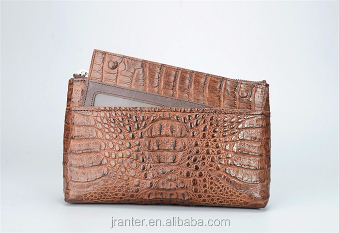 2016 Wholesale Custom Crocodile Leather Clutch Wallet for Men,High Quality Men's Leather Clutch Bag