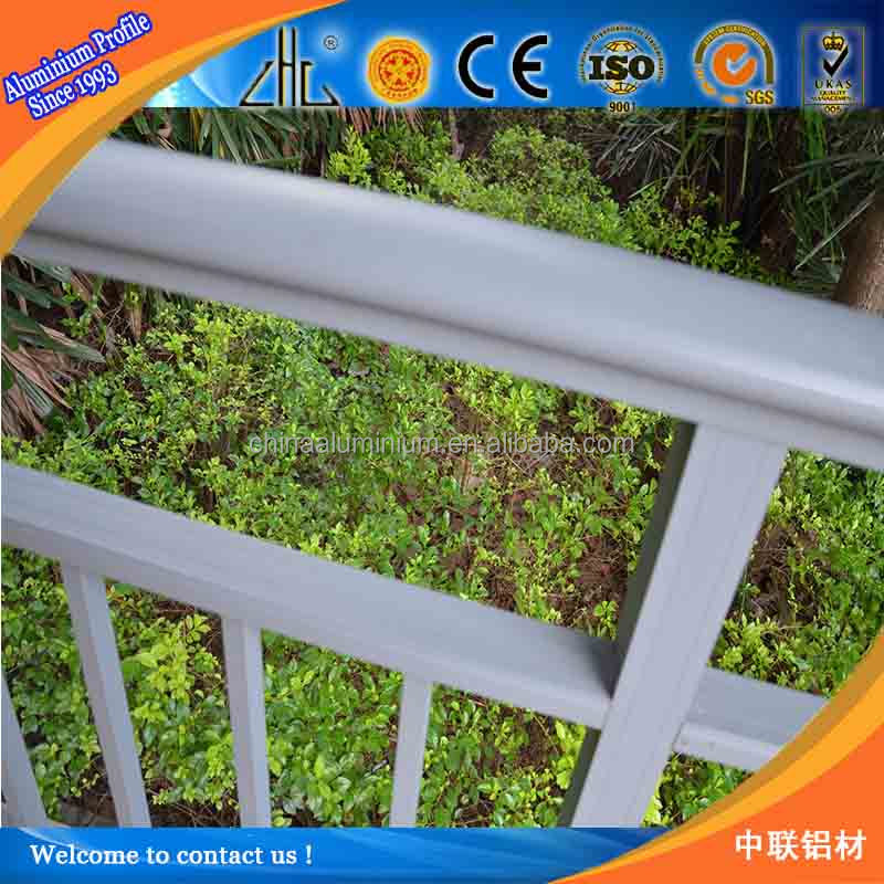 Great! Aluminum guide rail for balcony decoration /aluminium profile for glass railing /6063T5 material aluminum railing /OEM