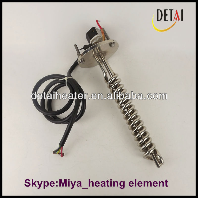 Water Stainless Steel Immersion Heater Element For Plating