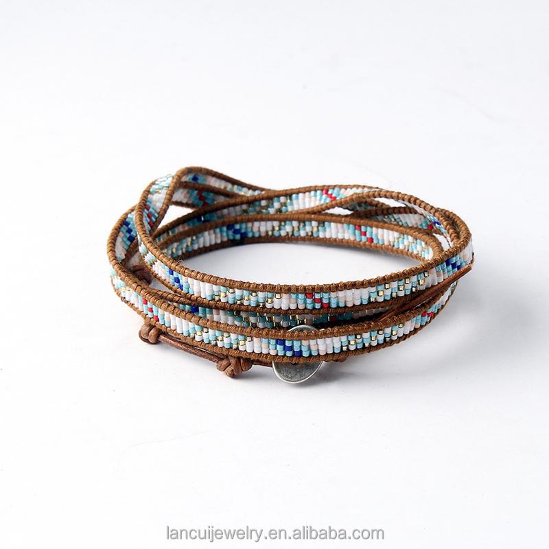 art und weise mischte glasperlen weave wickelarmbnder perlen muster bhmischen armband - Perlen Weben Muster