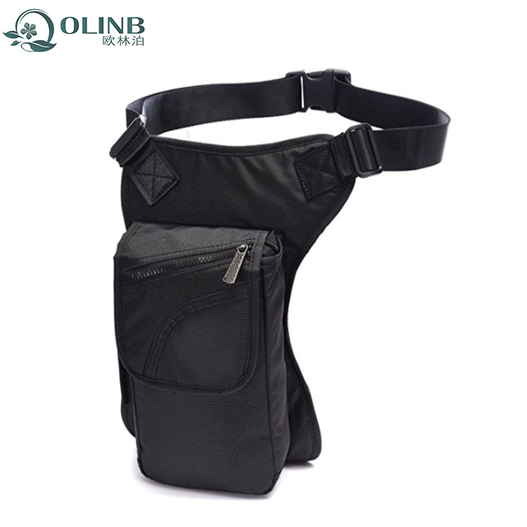Black Custom Hiking Waist Leg Bag Motorcycle Bags For Men Product On Alibaba