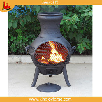 Outdoor Fireplace Cast Iron Chimeneas Outdoor Fire Chimneys View