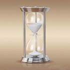 1 hour large brass hourglass sand timers