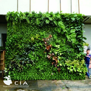 Affordable Artificial Vertical Garden Wall System Plastic