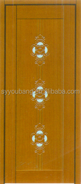 swing single leaf interior with glass inserts flush bathroom wooden pvc door