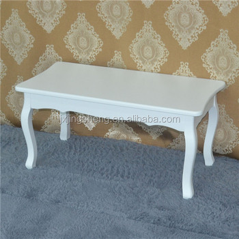 Shabby Chic Peru Furniture Style Matt White Wood Mdf Coffee Table Hot Sell