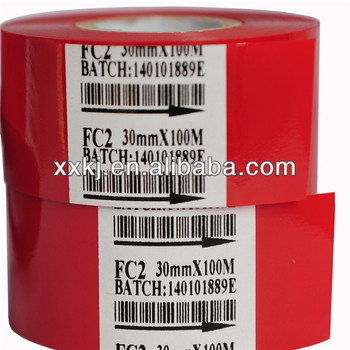 Red Color 30mm batch code printer hot coding foil for Hp-241B coder