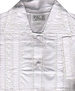 jewish men long robe long t shirt lace trim embrodiery kittel 100% cotton factory price wholesale
