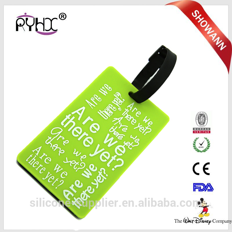 silicone customized luggage tags soft pvc luggage tags travel tags for luggage