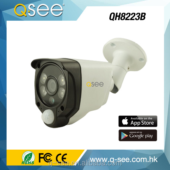 2017 New peoduct 1080P 2PCS White Light+2PCS Array IR LED, 20Meter IR Distance PIR AHD Bullet Camera