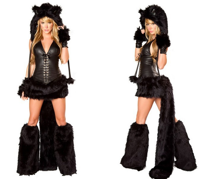 Get Quotations · Black cat deluxe Animal Cosplay Women Sexy Adult Halloween Animal Costumes Cosplay Carnival Costumes  sc 1 st  Alibaba & Cheap Deluxe Costumes Women find Deluxe Costumes Women deals on ...