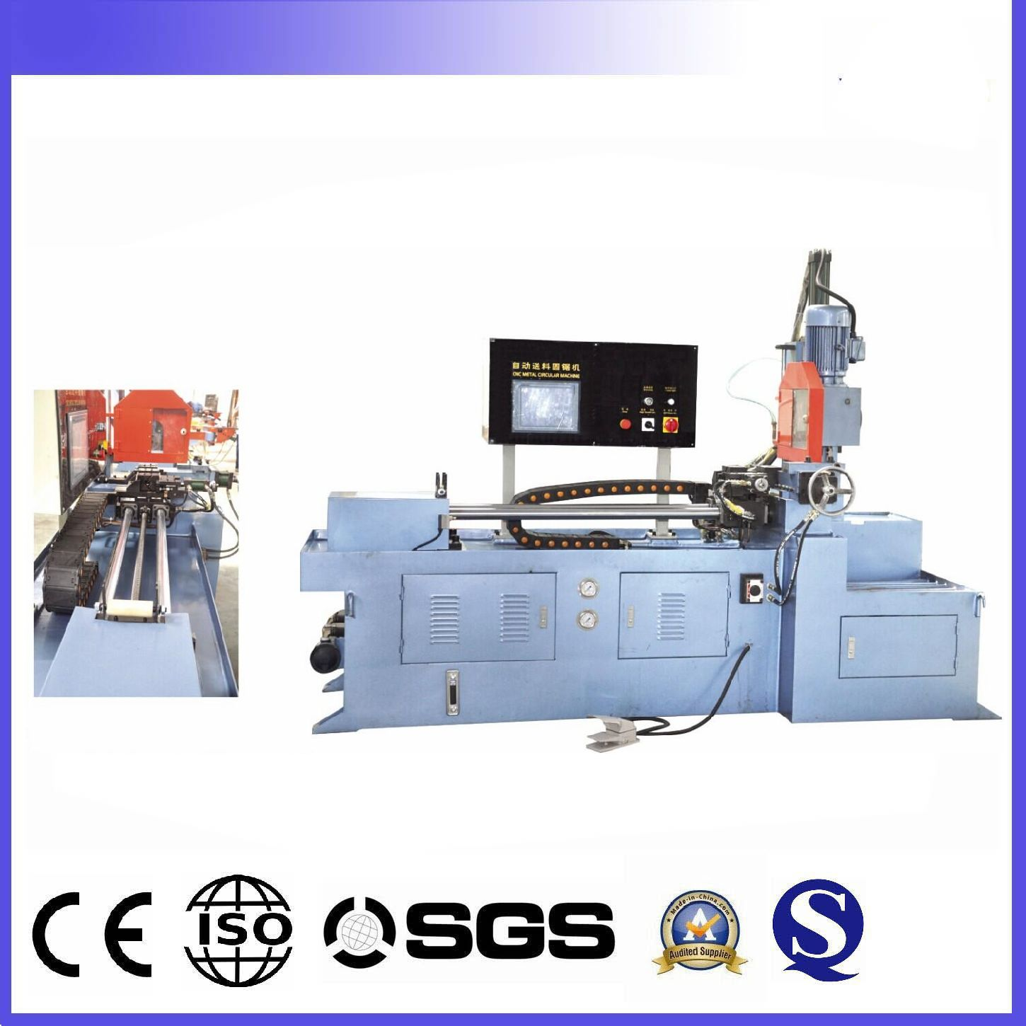 CNC automatic aluminium pipe and profile saw circle cutting machines