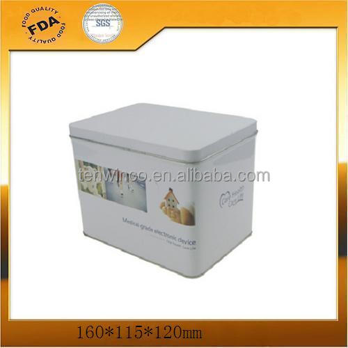 Square PrintedTin Boxes,Coin Tin Cans Medical electronic iron boxes