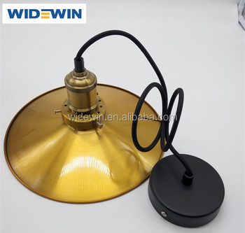 Retro Edison Ceiling Lighting Hanging Pendant With Antique Brass Lampholder
