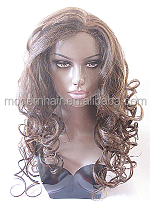 grade 7a maylaysian human hair silk top lace front wigs 24inch150%density highlight brown for black women