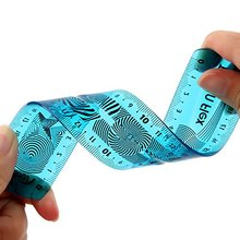 High quality hot selling OEM 15cm plastic promotional flexible scale folding ruler