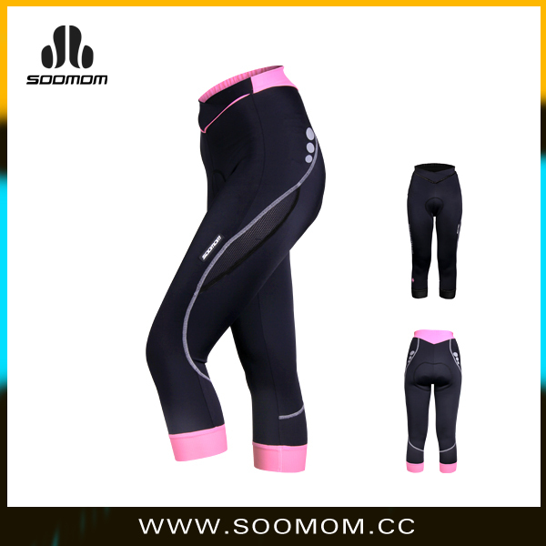 bike riding shorts custom compressive sport pants with comfortable pad simple design cycling Wear for ladies