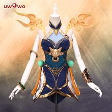 В наличии, UWOWO Game League of Legends LUNAR EMPRESS LUX LOL Luxanna Crownguard, костюм светящейся женщины(Китай)