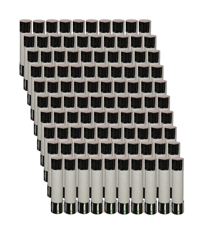Bag of 100 uxcell 250V 15Amp Fast Blow 5 x 20mm Ceramic Fuses Fuse Links