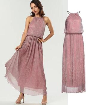 2019 new fashion ladies maxi dress womens Metallic Shimmer Maxi Dress party dress