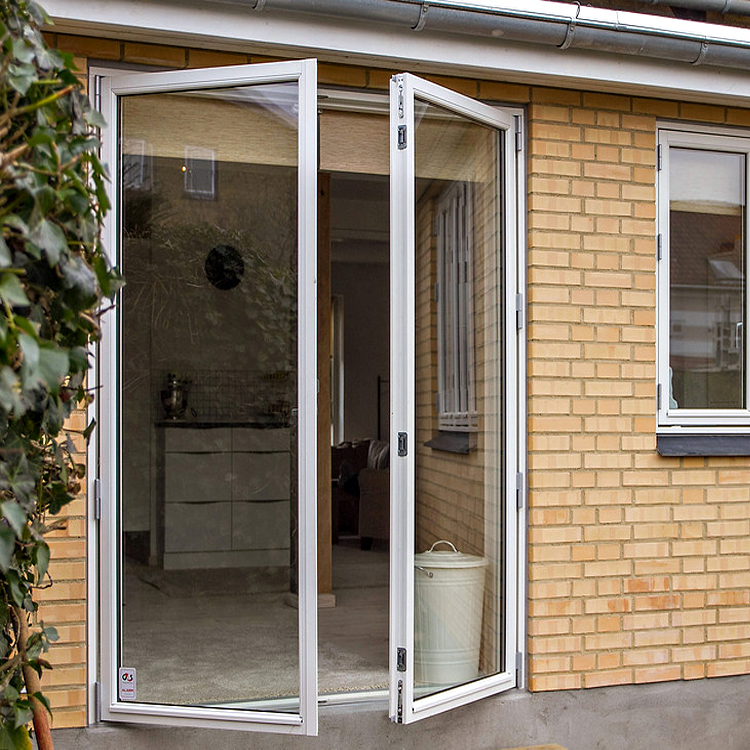 Aluminum Frame Double Glazed Swing French Door With Fibergl Mosquito Flyscreen Doors
