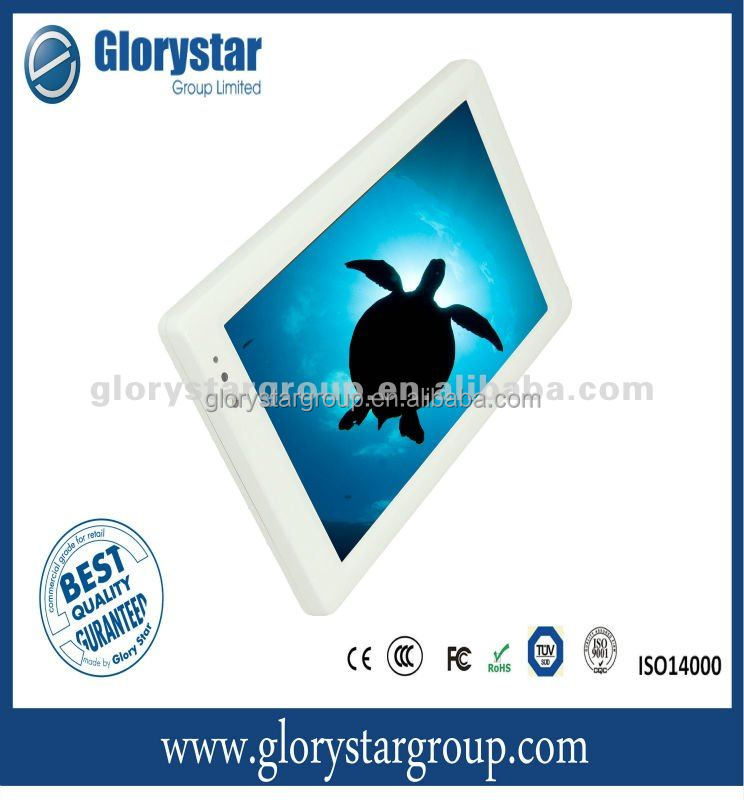 Steel Housing 10, 15 inch LCD ad player, Digital Signage