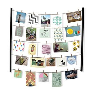 Hanging Photo Display Wire Twine Cords Wall Mounts and Clothespin Clips for Hanging Photos