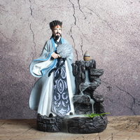 Resin Smoke Waterfall Backflow Incense Burner --Zhugeliang Statue