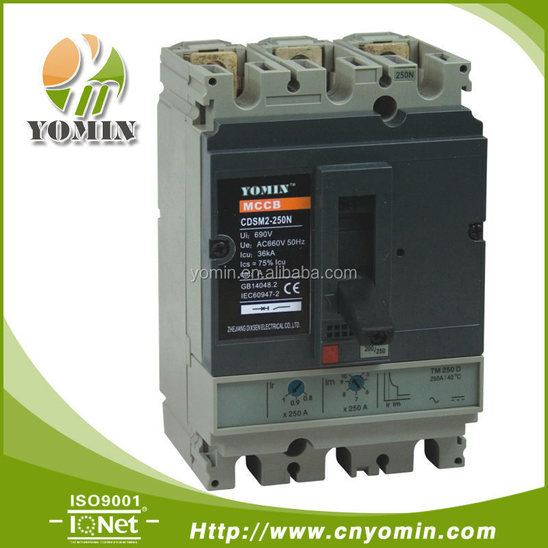 Manufacturer 50A 3 Phase Circuit Breaker , MCCB CDSM2-250N/3P-50 Electrical Suppliers .