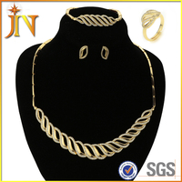EN00011 JN High Quality italian costume wave jewelry indian bridal dubai custom CZ jewelry set Wholesale shourouk jewelry
