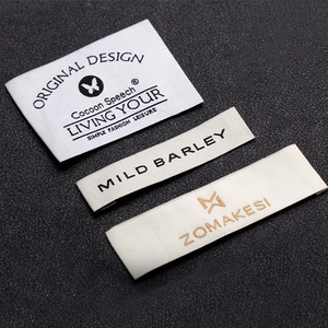 Wholesale woven clothing size label and size stickers for clothes dress garment