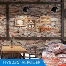 Виниловая настенная 3d наклейка с рисунком кирпичного камня, самоклеящаяся пленка и клей, 10 М назад, с клеем, настенная бумага из ПВХ для деко...(Китай)
