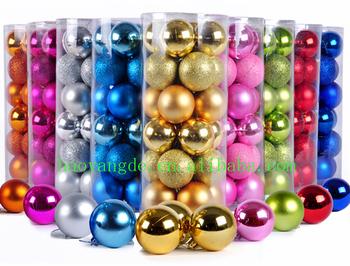 clear plastic christmas ball shiny matt glitter balls xmas tree decorations - Plastic Christmas Balls
