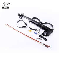 OEM wholesaler price 4/4 Full Size student silent solid wood built-in pickup electric violin