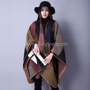 Winter warm grid autumn winter female characters thickening prayer shawl