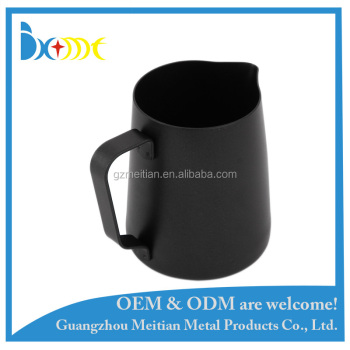 12oz black paint milk frothing pitcher