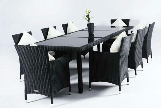 table manger en plein air mis en osier table manger et une chaise en rotin salle de jardin. Black Bedroom Furniture Sets. Home Design Ideas