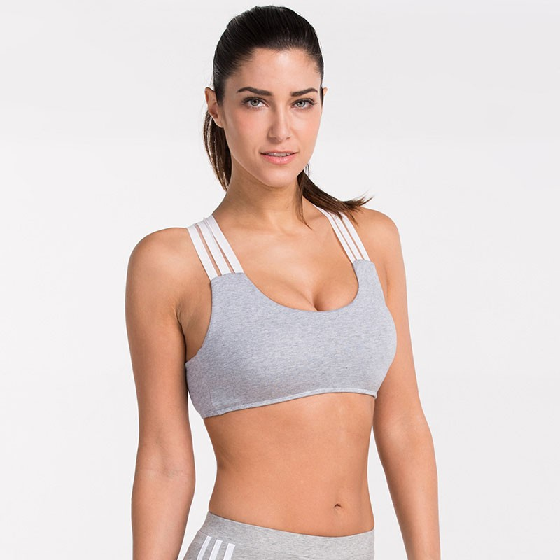 Women Seamless Racerback Yoga Fitness Padded Stretch Workout Baseball Sports Bra