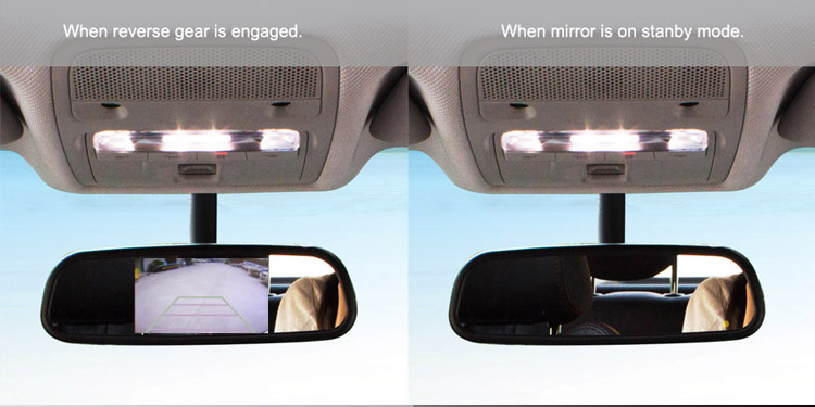 Compact design touch screen high brightness 1080p car parking rear view mirror monitor