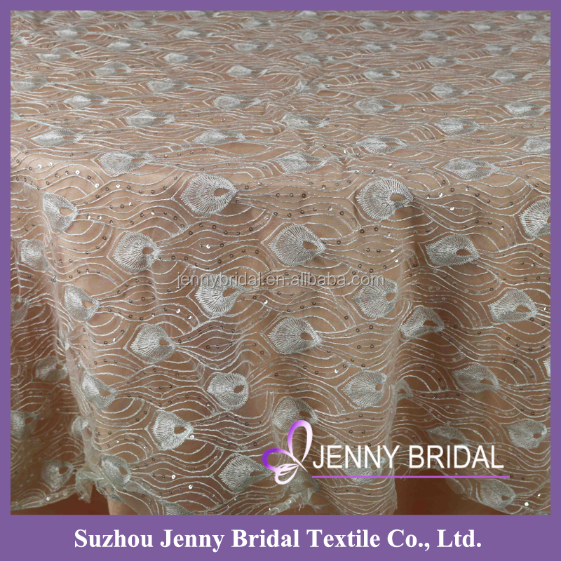 TC176A beaded tulle fabric lace overlay tablecloth lace overlay tablecloth