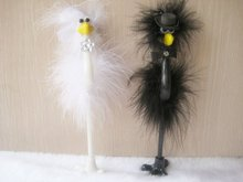 New Feathery Ostrich Couple Novelty Pens/Promotion gift/Bride and Groom Style