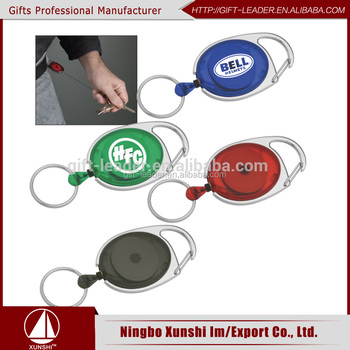 80cm length oval id retractable plastic badge holder