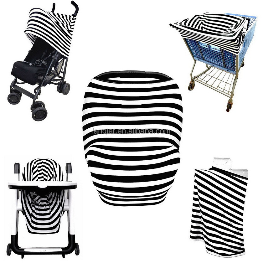Apron BamBoo Nursing Cover Scarf Baby Car Seat Canopy Cover For Baby Breastfeeding  Skull 5 in 1 Car Seat Cover