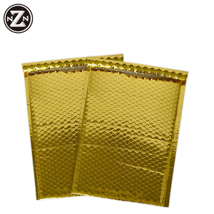 shockproof gold metallic Aluminum Foil bubble padded mailing bag for delivery
