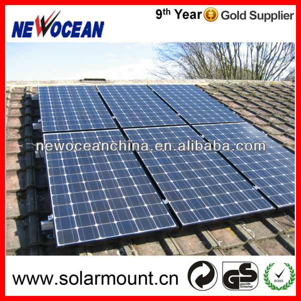 pitch roof aluminum solar panel mounting structure