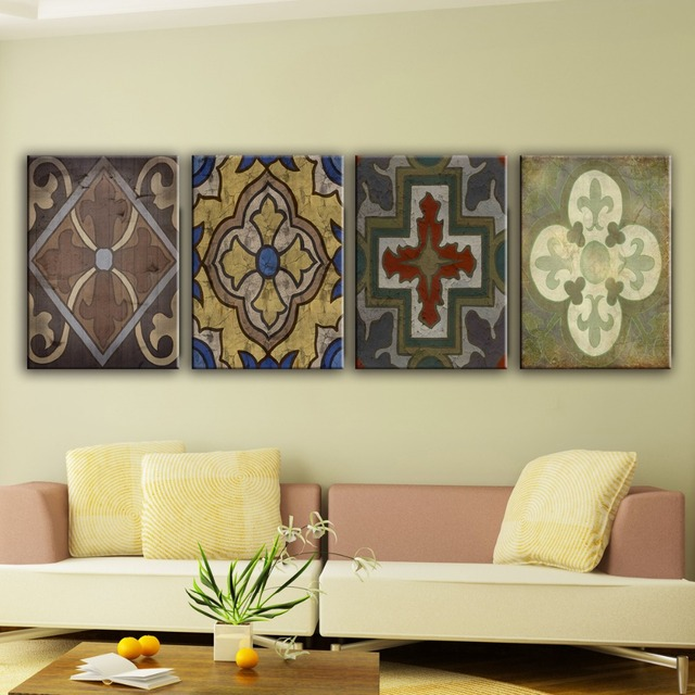 european style house wall modern art paintings in living room - Living Room Paintings